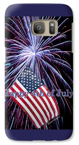 Galaxy Case featuring the photograph Happy Fourth Of July by Terri Harper