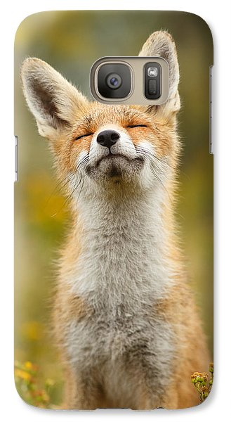 Niagra Falls Galaxy S7 Case - Happy Fox by Roeselien Raimond