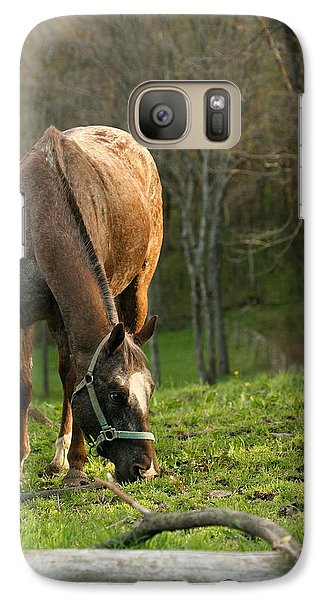 Galaxy Case featuring the photograph Happy Grazing by Angela Rath
