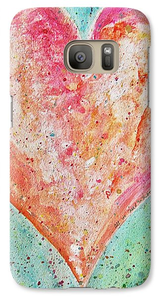 Galaxy Case featuring the painting Happy Heart by Diana Bursztein