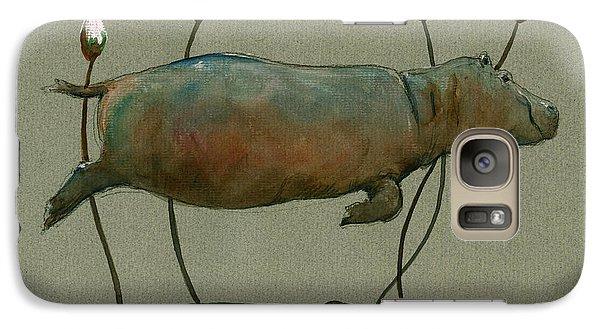 Happy Hippo Swimming Galaxy S7 Case