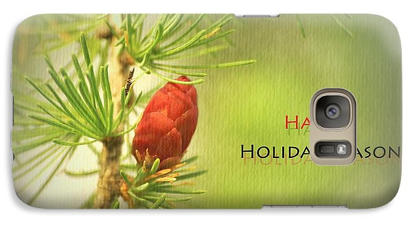 Galaxy Case featuring the photograph Happy Holiday Season Card by Aimelle