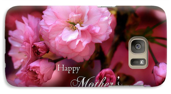 Galaxy Case featuring the photograph Happy Mothers Day Spring Pink Cherry Blossoms by Shelley Neff