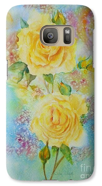 Happy Roses Galaxy S7 Case by Beatrice Cloake