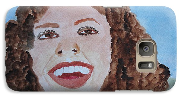 Galaxy Case featuring the painting Happy by Sandy McIntire