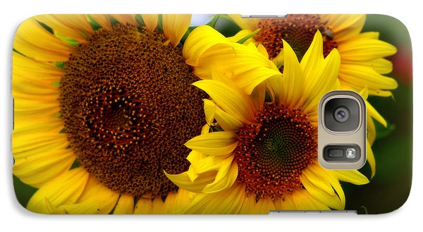 Galaxy Case featuring the photograph Happy Sunflowers by Kay Novy