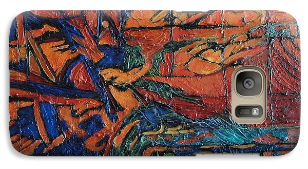 Galaxy Case featuring the painting Harbingers by Bernard Goodman