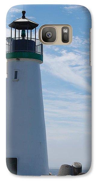 Galaxy Case featuring the photograph harbor lighthouse Santa Cruz by Garnett  Jaeger