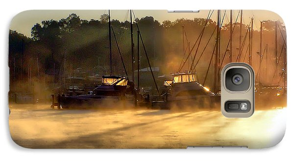 Galaxy Case featuring the photograph Harbor Mist by Brian Wallace