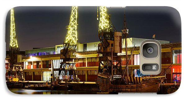 Galaxy Case featuring the photograph Harbour Cranes by Colin Rayner