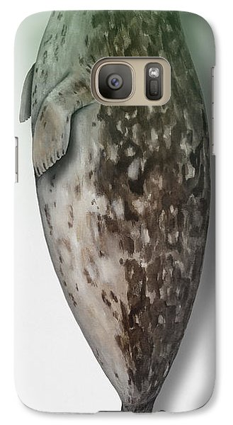 Galaxy Case featuring the painting Harbour Seal - Harbor Seal - Phoca Vitulina - Phoque Commun - Foca Comune - Pinniped - Sleeping  by Urft Valley Art