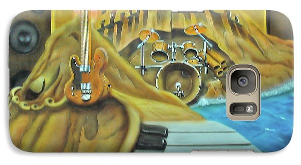 Galaxy Case featuring the painting Hard Rock by Thomas J Herring