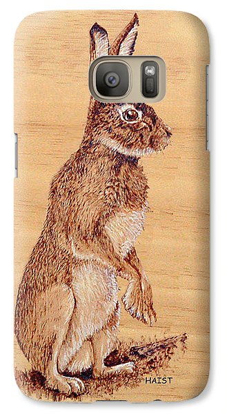 Galaxy Case featuring the pyrography Hare by Ron Haist