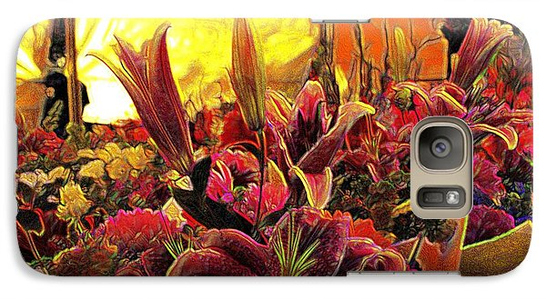 Galaxy Case featuring the mixed media Harim by Terence Morrissey