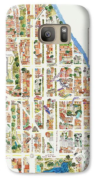 Harlem From 110-155th Streets Galaxy S7 Case by Afinelyne