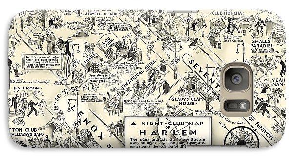Harlem Galaxy S7 Case - Harlem Prohibition Nightclub Map 1926 by Daniel Hagerman
