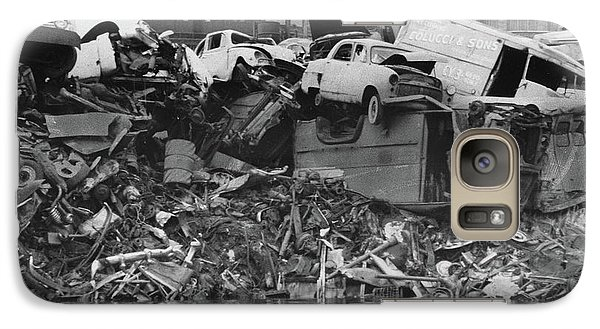Galaxy Case featuring the photograph Harlem River Junkyard, 1967 by Cole Thompson