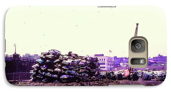 Galaxy Case featuring the photograph Harlem River Junkyard by Cole Thompson