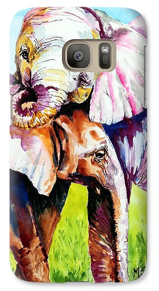 Galaxy Case featuring the painting Harley And Bentley by Maria Barry