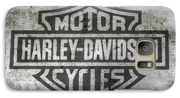 Harley Davidson Logo On Metal Galaxy S7 Case