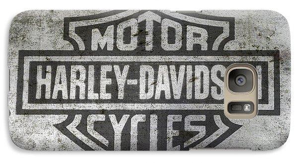 Harley Davidson Logo On Metal Galaxy S7 Case