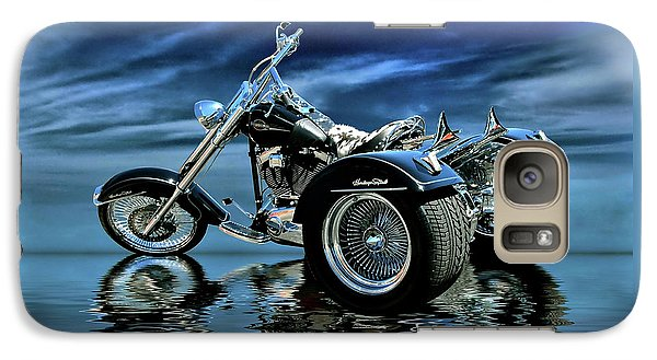 Galaxy Case featuring the photograph Harley Heritage Soft Tail Trike by Steven Agius