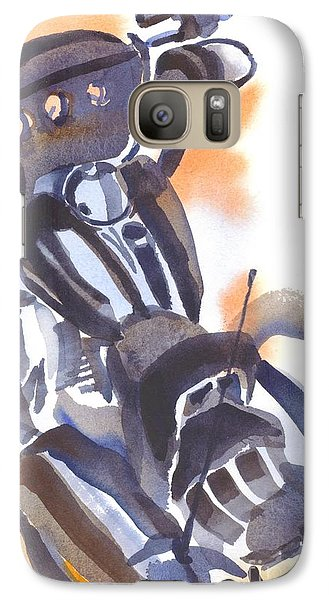 Galaxy Case featuring the painting Motorcycle Iv by Kip DeVore