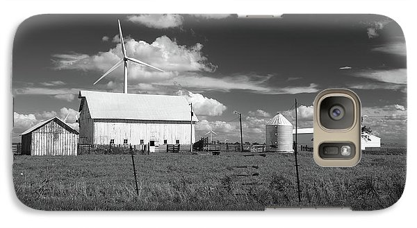 Galaxy Case featuring the photograph Harnessing The Wind In Indiana by Scott Kingery