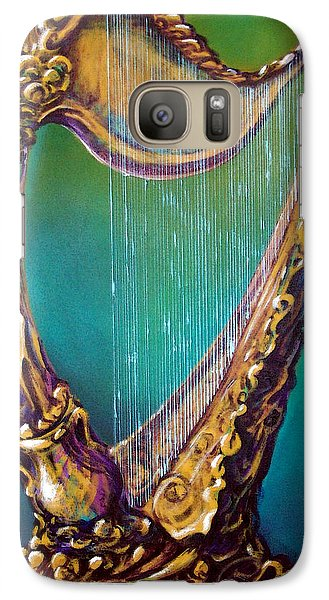Galaxy Case featuring the painting Harp by Kevin Middleton