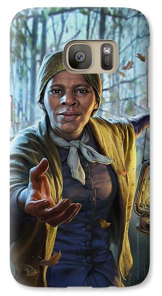 Train Galaxy S7 Case - Harriet Tubman by Mark Fredrickson