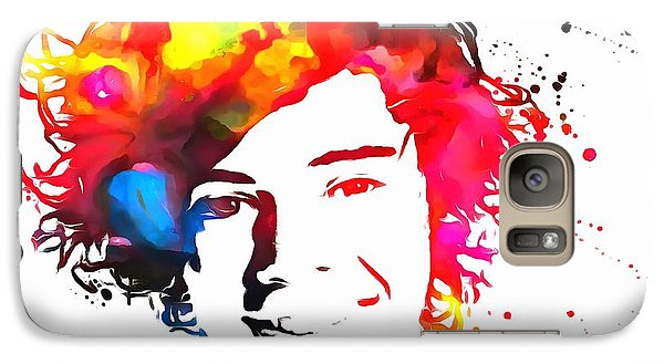 Harry Styles Paint Splatter Galaxy S7 Case by Dan Sproul