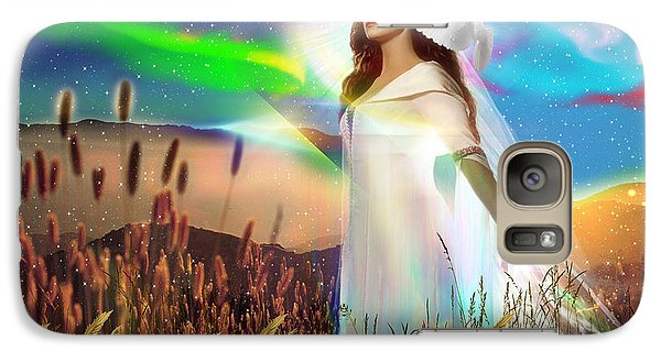 Galaxy Case featuring the digital art Harvest Bride by Dolores Develde