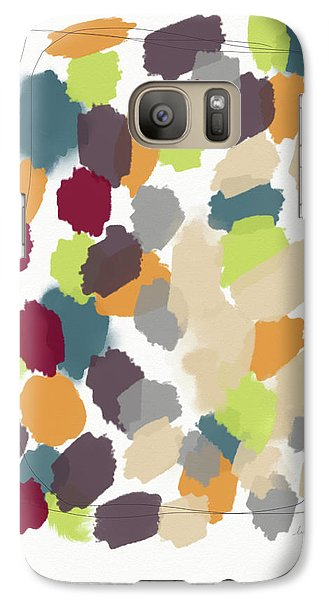 Pumpkin Galaxy S7 Case - Harvest Day- Abstract Art By Linda Woods by Linda Woods