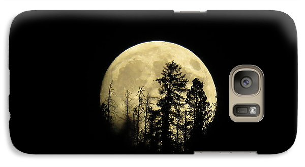 Galaxy S7 Case featuring the photograph Harvest Moon by Karen Shackles