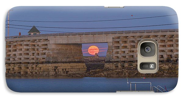Harvest Moon Over Harpswell Galaxy S7 Case