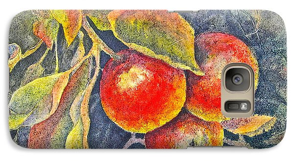 Galaxy Case featuring the painting Harvest Time by Carolyn Rosenberger