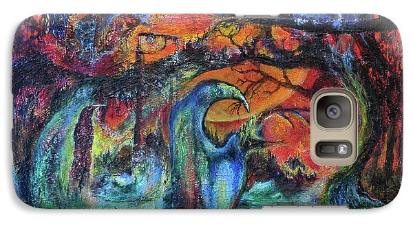 Galaxy Case featuring the painting Harvesters Of The Autumnal Swamp by Christophe Ennis