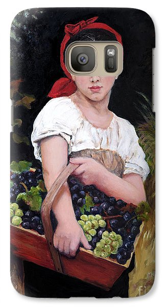 Galaxy Case featuring the painting Harvesting The Grapes by Sandra Nardone