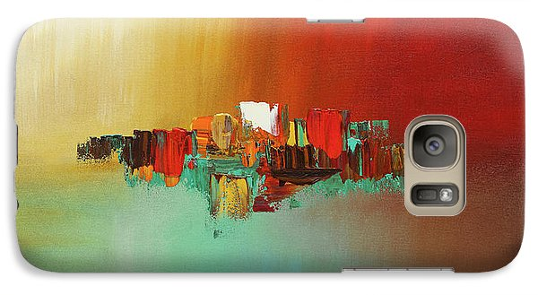 Galaxy Case featuring the painting Hashtag Happy - Abstract Art by Carmen Guedez