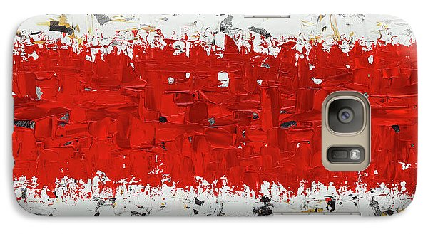 Galaxy Case featuring the painting Hashtag Red - Abstract Art by Carmen Guedez