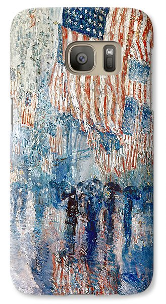 Hassam Avenue In The Rain Galaxy Case by Granger