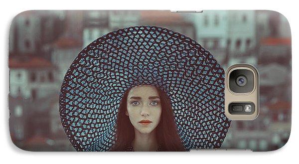 Hat And Houses Galaxy Case by Anka Zhuravleva
