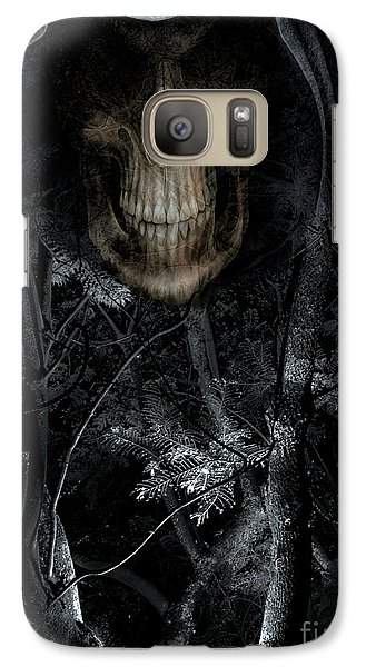 Galaxy Case featuring the photograph Haunted Forest by Al Bourassa