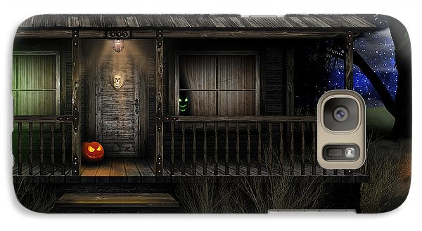Galaxy Case featuring the digital art Haunted Halloween 2016 by Anthony Citro