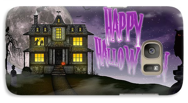 Galaxy Case featuring the digital art Haunted Halloween by Anthony Citro