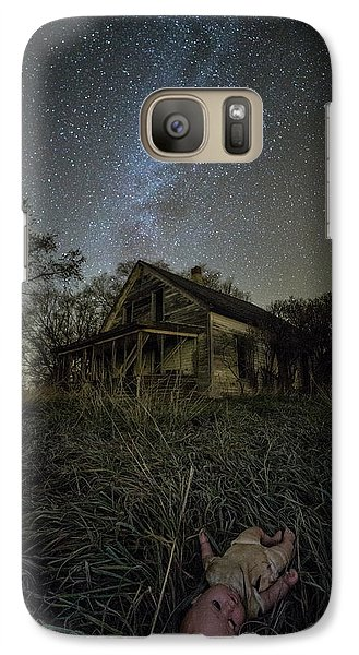 Galaxy Case featuring the photograph Haunted Memories by Aaron J Groen