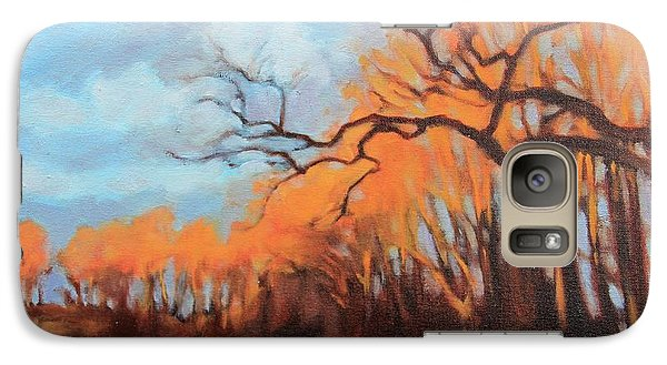 Galaxy Case featuring the painting Haunting Glow by Andrew Danielsen