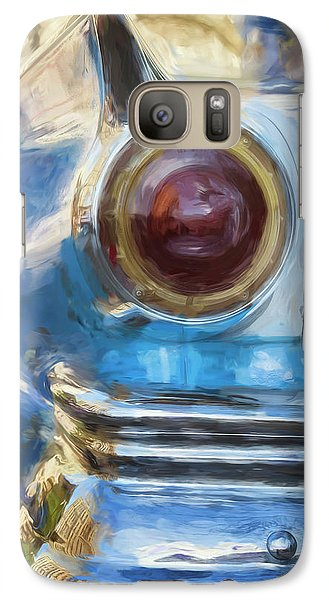 Galaxy Case featuring the photograph Havana Cuba Vintage Car Tail Light Painterly by Joan Carroll