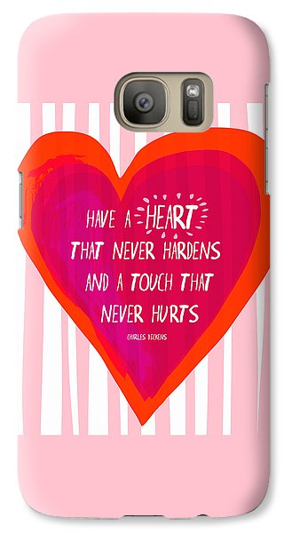 Galaxy Case featuring the painting Have A Heart by Lisa Weedn