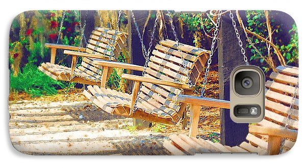 Galaxy Case featuring the photograph Have A Seat Relax by Donna Bentley
